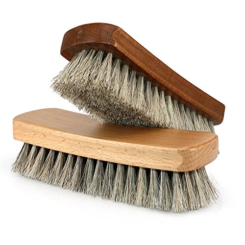 Shoe Shine Brushes MoYag Large Professional Horse Hair Brushes for Shoes, Boots & Other Leather Care by MoYag