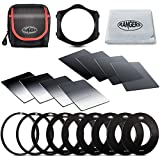 Rangers 8pcs ND Filter kit (Full and Graduated ND2, ND4, ND8, ND16 Filters, Optics) and 9 Filter Adaptors Ring (49-82mm) and 1 ABS Adaptor Holder + Carrying Case + Lens Cleaning Cloth