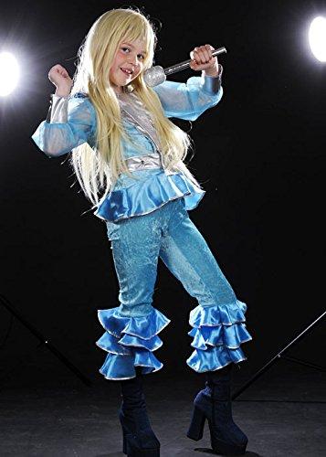 Los niños de los 70 Abba azul chica traje Medium (EU128 7-8yrs ...