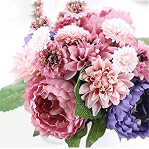 DHD Wedding Bride Hand Bouquet Rosemary Peony Flower Bouquet Vivifying Flower Home Furnishing And Decorative Flower 77