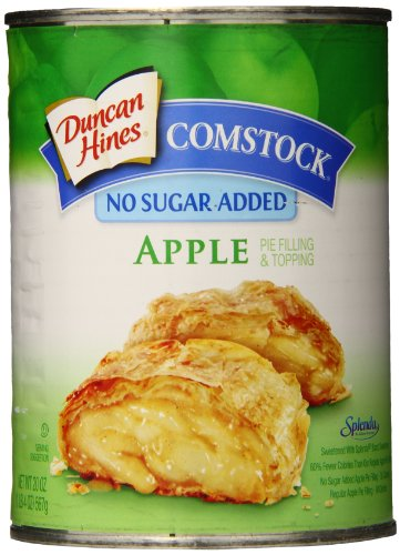 Comstock No Sugar Added Fruit Pie Filling & Topping, Apple, 20 Ounce (Pack of - Homemade Filling Pie Apple