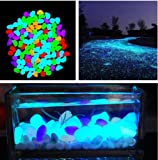 New 10 Pcs New Colorful Glow in The Dark Stones pebbles Rock For FISH TANK AQUARIUM no.48