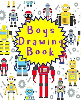 Book Boys Drawing Book: Bullet Grid Journal, 8 x 10, 150 Dot Grid Pages (sketchbook, journal, doodle)