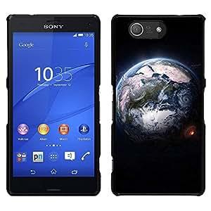 LECELL--Funda protectora / Cubierta / Piel For Sony Xperia Z3 Compact -- Diseñar la Tierra desde el espacio --