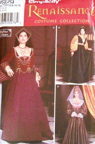 Simplicity Renaissance Costume Collection -