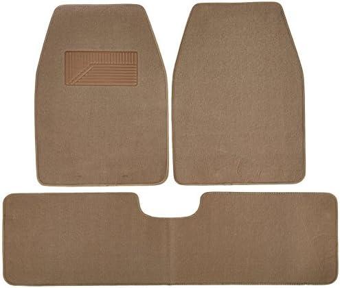 BDK 3-Piece Heavy Duty Nibbed Carpet Mat – (Medium Beige)