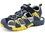 Zicoope Little Kid's Breathable Anti-slip Light Weight Soft Outdoor Walking Sandal Dark Blue US Size 12 M