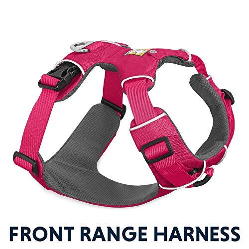 RUFFWEAR - Front Range, Everyday No Pull Dog Harness with Front Clip, Trail Running, Walking, Hiking, All-Day Wear, Wild Berry (2017), Medium (Measurements Dog Harness)