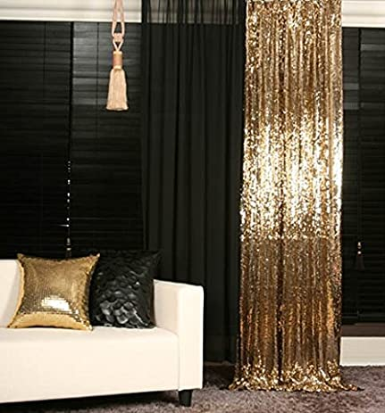 ShiDianYi Gold Sequin Backdrop 2FTX8FT High Density Photography Fabric Photo Booth