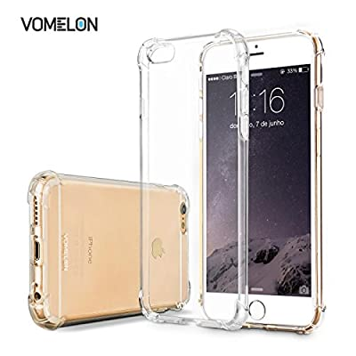 iPhone Case, Slim Crystal Clear Bumper Cover Durable Shockproof Skin for Apple iPhone 6 6S by V0MEL0N
