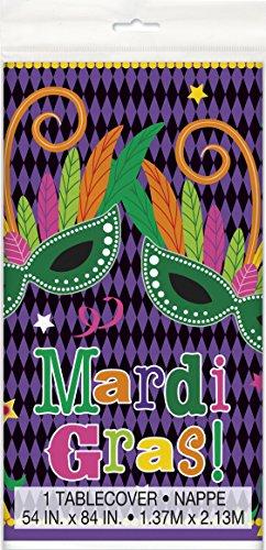 Mardi Gras Party Plastic Tablecloth, 84