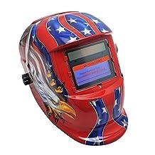 Vinmax Pro Solar Auto Darkening Welding Helmet Arc Tig Mig Mask Grinding Welder Mask (American Eagle)