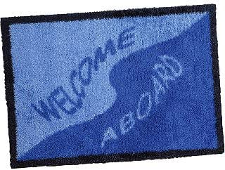 WELCOME ABOARD BOAT MAT WIND DIRECTION ANTI SLIP COMPOSITE RUBBER BACKING.