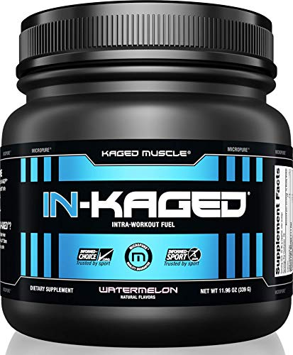 KAGED MUSCLE, IN-KAGED Intra Workout Powder, Intra-Workout Fuel, L-Citrulline, Workout, Boost Energy, Muscle Pump, Intra Workout, Watermelon, 20 Servings