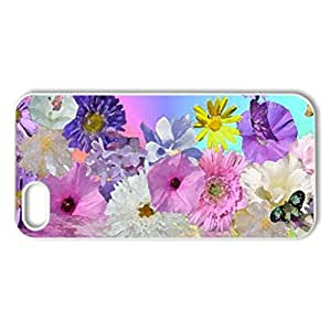 Happy Easter - Case Cover for iPhone 5 and 5S (Flowers Series, Watercolor style, White)