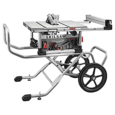 """SKIL SPT99-11 10"""" Heavy Duty Worm Drive Table Saw with Stand, Silver"""