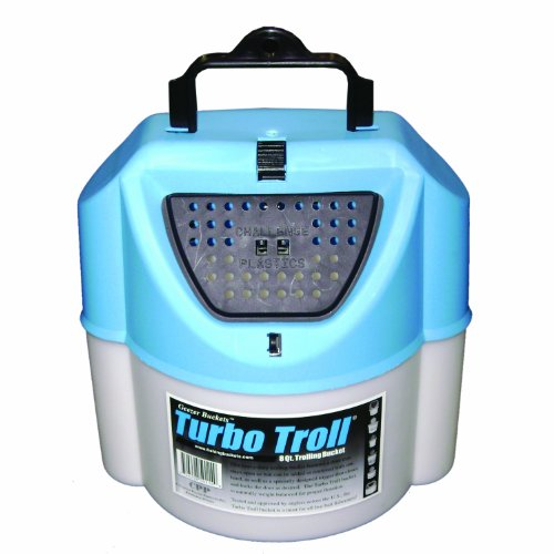 Challenge 50114 Turbo Troll Bait Bucket, 8 Quart, - Bait 8 Bucket Quart