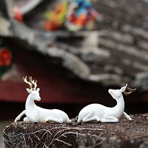 Decoraciones para autos ciervos decoración casera artesanía en cerámica 2