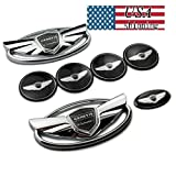 FOR Hyundai Genesis Coupe Silver Chrome WING Logo Emblem Set 7pcs