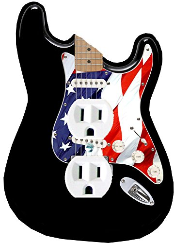Music Treasures Co. US Flag Electric Guitar DUPLEX Plate Cover