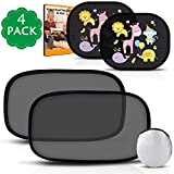 Car Window Shade, Peyou Car Sun Shades (4 Pack), 80 GSM Mesh UPF 50+ 15s Static Film, Full UV Protection For Your Baby, 2 Pack Semi-Transparent and 2 Pack Transparent Baby Sunshades for side window - Travel E-Book