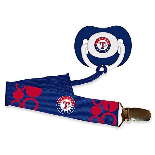 Texas Rangers Clip - Baby Fanatic Pacifier with Clip - Texas Rangers