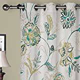 Cheap IYUEGO Country Graceful Artistic Floral Grommet Top Lined Blackout Curtains Draperies With Multi Size Custom100″ W x 108″ L (One Panel)