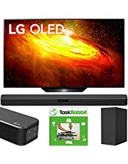 LG OLED65BXPUA 65-inch BX 4K Smart OLED TV with AI ThinQ (2020) Bundle SN5Y 2.1 Channel High Res Audio Sound Bar with DTS Virtual:X and Taskrabbit Installation Service