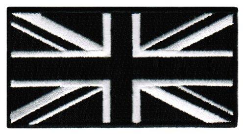 Black Union Jack Embroidered Patch British England Flag UK G