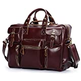 Leathario Mens Leather Laptop Bag, Leather Briefcase, Leather Business Bag Briefcase for men