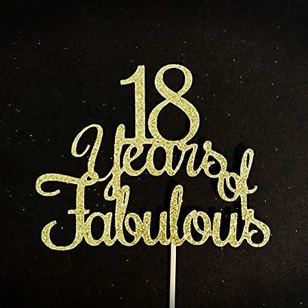 Decoración para tarta de 18 años de fabuloso cumpleaños, 18 ...