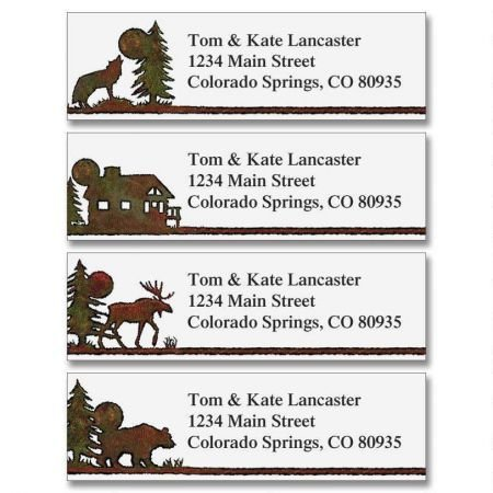Country Lodge Small Return Address Labels (4 Designs) - Set of 240 2