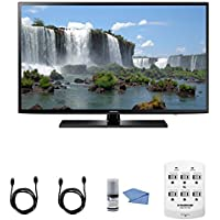 Samsung UN55J6200 - 55-Inch Full HD 1080p 120hz Smart LED HDTV + Hookup Kit - Includes TV, HDMI to HDMI Cable 6, 6 Outlet Wall Tap Surge Protector with Dual 2.1A USB Ports and Cleaning Kit