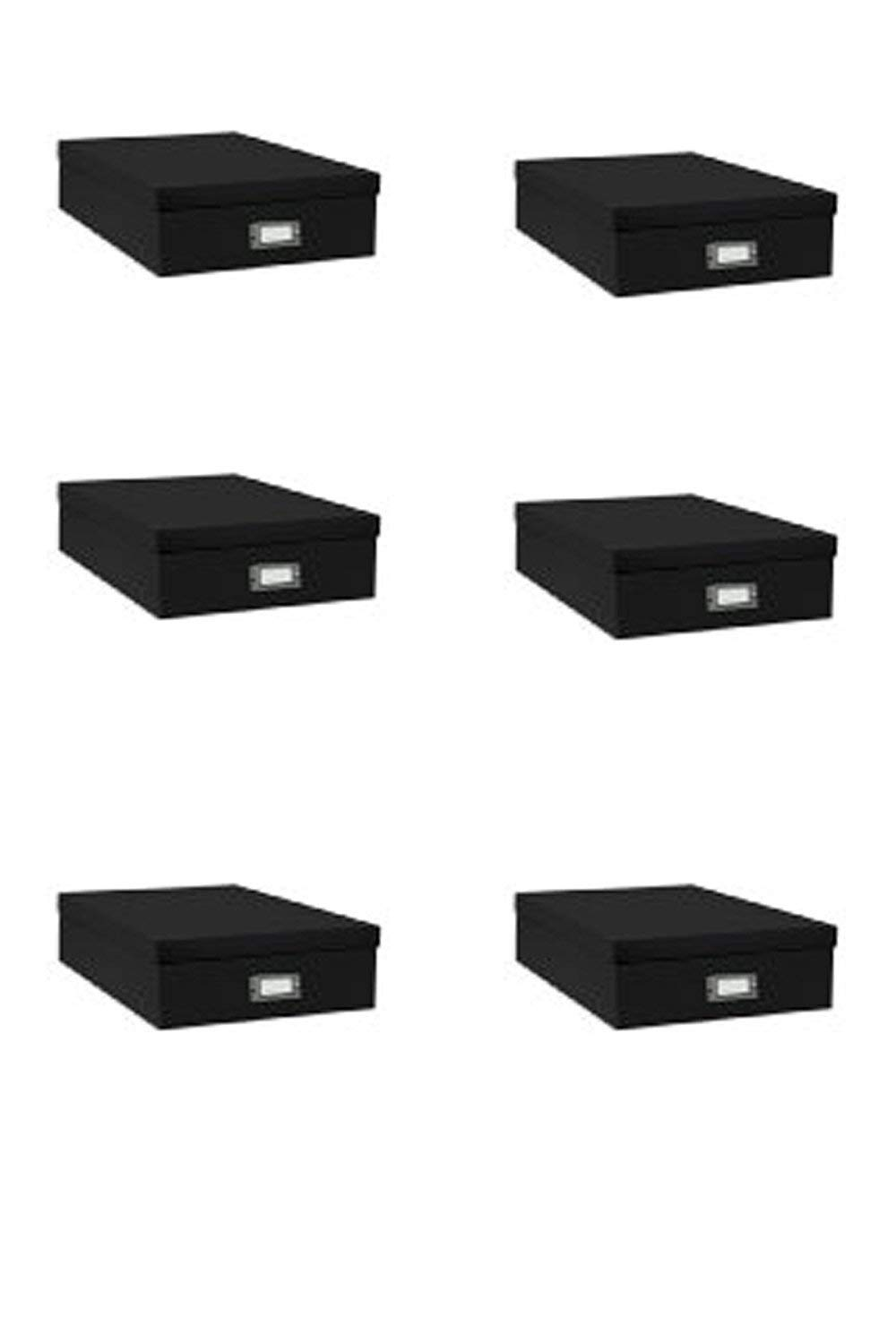 Pioneer Jumbo Scrapbook Storage Box, Black, 14.75 Inch X 13 Inch X 3.75 Inch,6-Pack