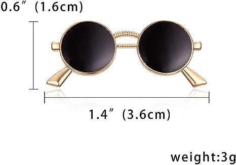HUANGHUA Moda Esmalte Gafas De Sol Gafas De Sol Alfileres Broches Traje De Hombre Camisa De Vestir Cuello Mujer Ropa De Hombre Accesorios: Amazon.es: Deportes y aire libre