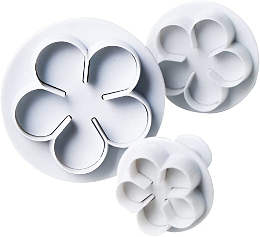 1X 4pcs//set Roses Calyx Flower Cake Decorating Molds Stainless Steel Biscuit 6N