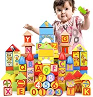 Msddc 160 Tablets of Large Blocks for Boys and Girls, Children's Toys, Wooden Puzzles, Early Childhood Edu