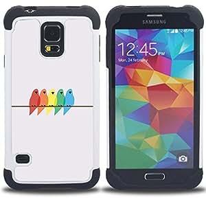 For Samsung Galaxy S5 I9600 G9009 G9008V - pastel color grey minimalistic Dual Layer caso de Shell HUELGA Impacto pata de cabra con im??genes gr??ficas Steam - Funny Shop -