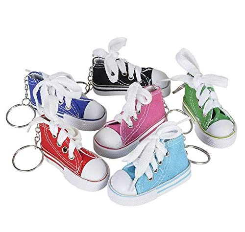 Rhode Island Novelty 3 Inch Chuck Sneaker Canvas Tennis Shoe Keychains | Lot of -