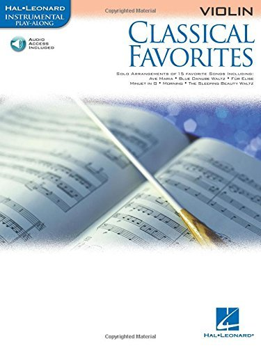 Classical Favorites for Violin Book & Online Audio (Hal Leonard Instrumental Play-Along) Violin -