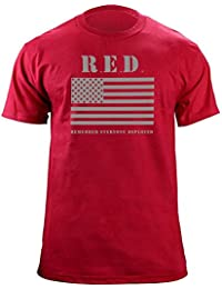 Remember Everyone Deployed RED Friday Flag Military T-shirt