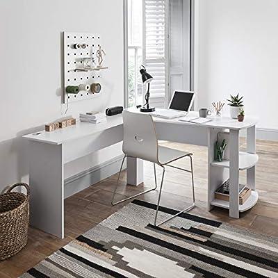 Escritorio de oficina en forma de L para ordenador, mesa grande ...