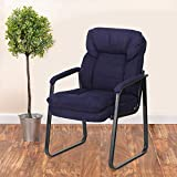 Flash Furniture Navy Microfiber Executive Side