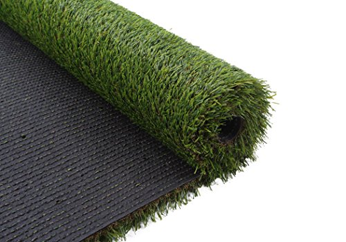 VerdeCasa Realistic Artificial Grass Rug Indoor/Outdoor Decorative Synthetic Grass Turf 1.18'' Pile Height 3'by 5' by VerdeCasa