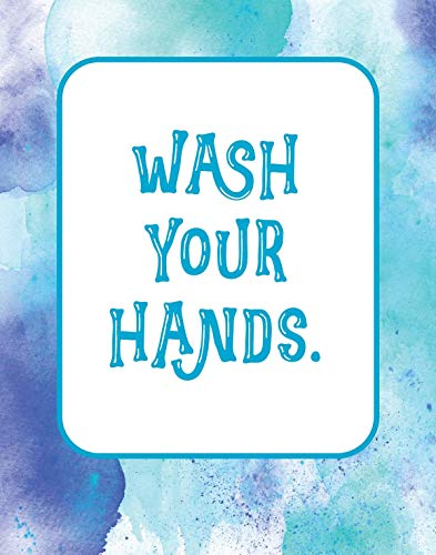 Wash your hands - 11x14 Unframed Art Print, Bathroom Decor, Great Gift for Doctors, Medical Students or Nurses by Graphic Geekery