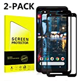 Google Pixel 2 XL Screen Protector [Easy to Install][HD - Clear][Case Friendly]Tempered Glass Screen Protector for Google Pixel 2 XL [2PACK][Black]