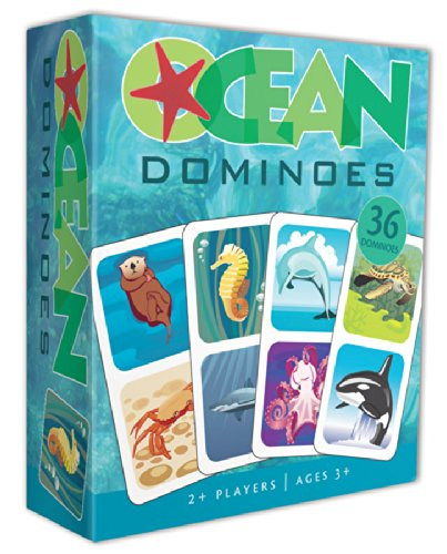 Kids Matching Game - Ocean Animals Dominoes - Classic Matching Game for Children
