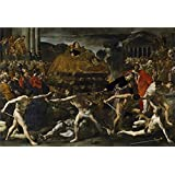 'Lanfranco Giovanni di Stefano Exequias de un emperador romano Ca. 1636 ' oil painting, 24 x 35 inch / 61 x 89 cm ,printed on Perfect effect canvas ,this Amazing Art Decorative Canvas Prints is perfectly suitalbe for Powder Room decoration and Home artwork and Gifts