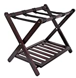 Birdrock Home Bamboo Luggage Rack | 26.6'' W x 21.25 '' H x 18'' L. Weight