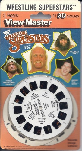 Wrestling Superstars 3d View-Master 3 Reel Set by View-Master
